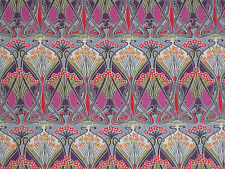 "LIBERTY OF LONDON COTTON FABRIC DESIGN ""Ianthe"" 2.4 METRES PINKS (240 CM)"