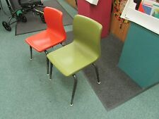 2 VINTAGE AMERICAN SEATING  bucket HARD PLASTIC CHILD CHAIR Mid Century retro