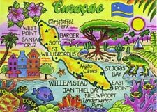 "CURACAO MAP CARIBBEAN FRIDGE COLLECTOR'S SOUVENIR MAGNET 2.5"" X 3.5"""