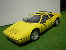 FERRARI 328 GTS jaune open échelle 1/18 de ANSON voiture miniature de collection