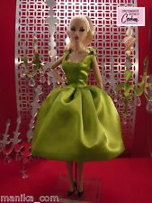Lime Green Party Dress 7351A for Silkstone Fashion,Royalty by Dressmaker Details