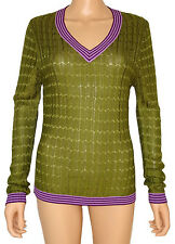 Missoni for Target Pullover Olive Knit Sweater Designer Womens Top Size L NEW