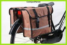 SÚPer PROMOCIÓN - Bolsa Doble Para Bicicleta Con Reflexivo - En Marrón