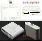 New 5 in 1 Micro USB Camera Connection Kit TF/SD/MS Card Reader Adapter White