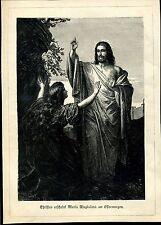 Christus erscheint Maria Magdalena am Ostermorgen--Zeitungsausschnitt von 1895-