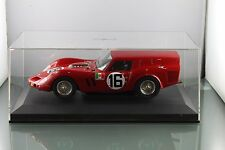 Mg Model plus ferrari 250 GT breadvan 1962 # 16 rojo 1/18 plexibox