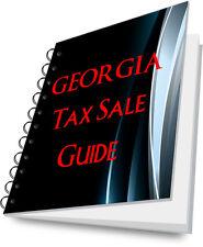 GEORGIA Tax Lien Certificate Tax Sale Guide NEW!