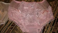 CUSTOM STYLE PANTIES 50's PIN-UPS SHEER PINK NYLON sz 9-10