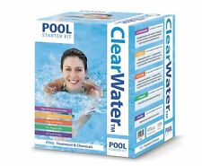 Clearwater Swimming Pool Hot Tub Spa Chemicals Maintenance Starter Kit 500g