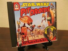 Star Wars Pit Droids Lucus Arts Vintage Collectible 1999 PC game MINT