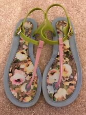 PAUL SMITH flip-flop toe post sandals floral pastal rose/bleu attache par boucle
