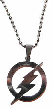 "Marvel Comics THE FLASH Logo Stainless Steel Pendant NECKLACE w/ 22"" Chain"