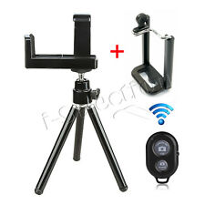 Universal Rotatable Tripod Holder Stand Mount 2 Clips for iPhone 6 5s 5 4s 4 3Gs