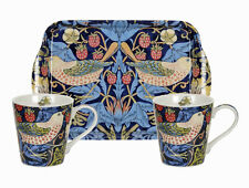 Morris & Co for Pimpernel Strawberry Thief Blue Mugs & Tray Set