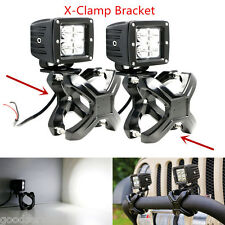 "2""-3"" Adjustable Bull Bar X-Clamp Bracket Mount Holder Clip Kit for 4x4 Offroad"