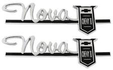 1963 Nova Rear Quarter Emblem Pair Nova Chevy II 400 Series