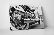 "Motorcycle Chrome Pipes Pop Art Gallery Wrapped Canvas 20""x30"""