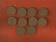 10 Different King George V One Cent Coins All Nice Clean Coins Lot 38