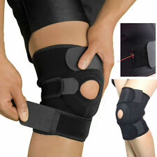 Adjustable Strap Elastic Patella Sports Support Brace Black Neoprene Knee FN