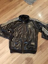 ADIDAS CHILE 62 tracksuit jacket xl black gold RARE pit to pit approx 52 chest
