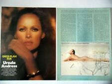 COUPURE DE PRESSE-CLIPPING : Ursula ANDRESS gros plan [5pages] 07-08/1978