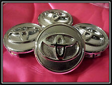 SET OF 4pcs. NEW TOYOTA COROLLA / YARIS / PRIUS WHEEL HUB CENTER CAP CAPS.