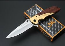 New Browning DA77 Titanium Knife Camping Survival Folding Hunting Knife
