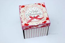 Handmade Anniversary Birthday Gift Exploding Box Hearts Love Couple For him her