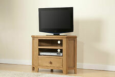 SOLID WOOD RUSTIC OAK CORNER WIDESCREEN TV LCD PLASMA CABINET STAND UNIT