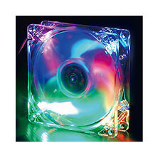 Evercool 92mm x 25mm 4 Color LED Case Fan Red Green Blue Orange CLB9225-4LD1
