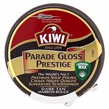 KIWI PARADE GLOSS DARK TAN 50ml HIGH SHINE BOOT POLISH (FREE P&P)