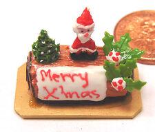 1:12 Scale Navidad Chocolate log Casa de muñecas en miniatura pastelería Accesorio H8