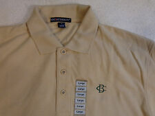 NWOT PORT AUTHORITY PLAY DRY GOLF POLO SHIRT,LARGE,BEIGE,CB,C.B.,EXCELLENT