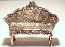 Antique, Levis & Salaman Miniature Sterling Silver Cherub Sofa or Settee, C.1914