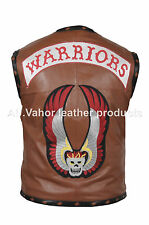 THE WARRIORS MOVIE LEATHER VEST JACKET - BIKE RIDERS HALLOWEEN COSTUME