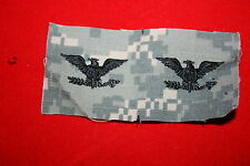 GENUINE US ARMY CAMO PAINTBALL COLONEL RANK BADGES INSIGNIA CLOTH PAIR ACU