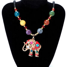 Women's Vintage Elephant Fashion Jewelry Hot Charm Crystal Pendant Necklace A1