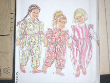 New Look 6650 Very Cute Girls Romper Size 2 3 4 5 6 years Stripes Prints Paisley