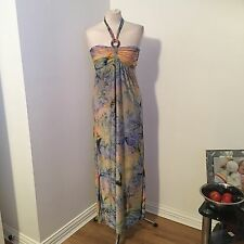 Qingyouduzhong Women's Clothes Ladies Wear Multi Colour Maxi Dress Size M Uk 12