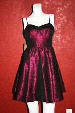 MISE EN SCENE BY RUFFIAN FALL 2009 JACQUARD GALA DRESS WINE/BLACK SIZE 4