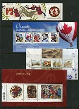 Canada 2011 Year Set NH, 119 Stamps - 21 Sheets & 53 Stamps, Complete By Scott