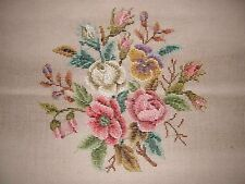 EP 3070/2 Vintage Dritz Tramme Rose & Pansy Floral Bouquet Needlepoint Canvas