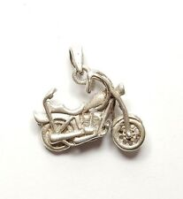 925 Sterling Silver CHOPPER MOTORBIKE BIKE MOTORCYCLE Pendant 5g