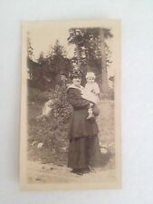 "Vintage Black And White Photo Oh Woman And Baby 2 1/2"" W X 4 1/4"" Tall"
