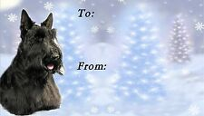 Scottish Terrier Christmas Labels by Starprint