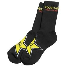 Rockstar Energy Drink MX Crew Socks Black size 6-9 small