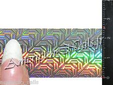 Rouleau Foils Nail Art Foil ongle Argent Digital Holographique 150 cm