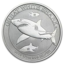 Perth Mint Australia $ 0.5 Great White Shark 2014 1/2 oz .999 Silver Coin