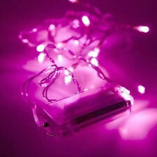 20 Battery Operated Pink LED Fairy Lights - Christmas/Wedding/Home (L228)