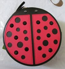 KATE SPADE Lady Bug Micha Turn Over A New Leaf Crossbody Bag Black Red